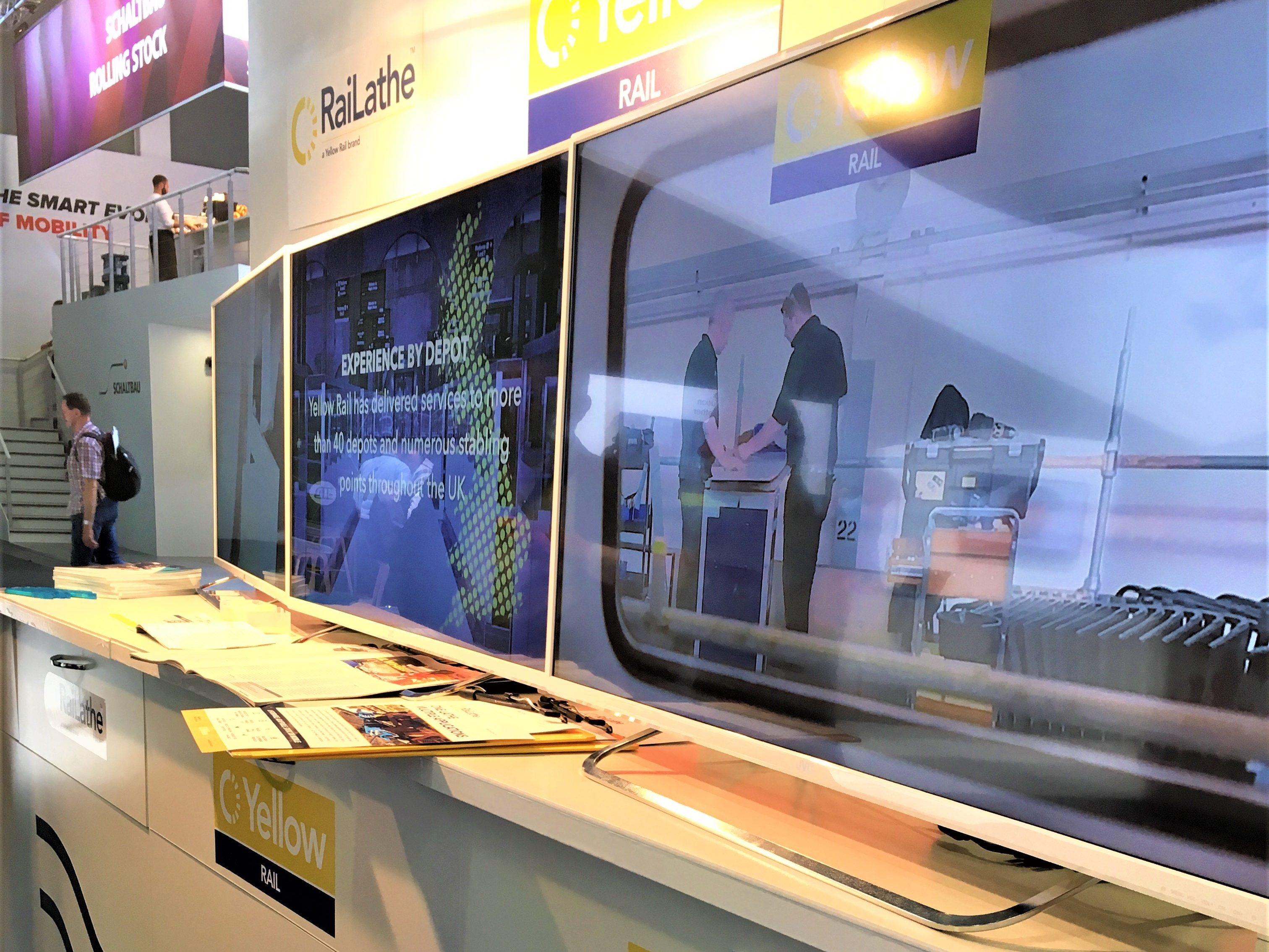 Innotrans expo view of stand